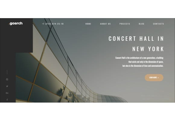 architecture interior drupal theme