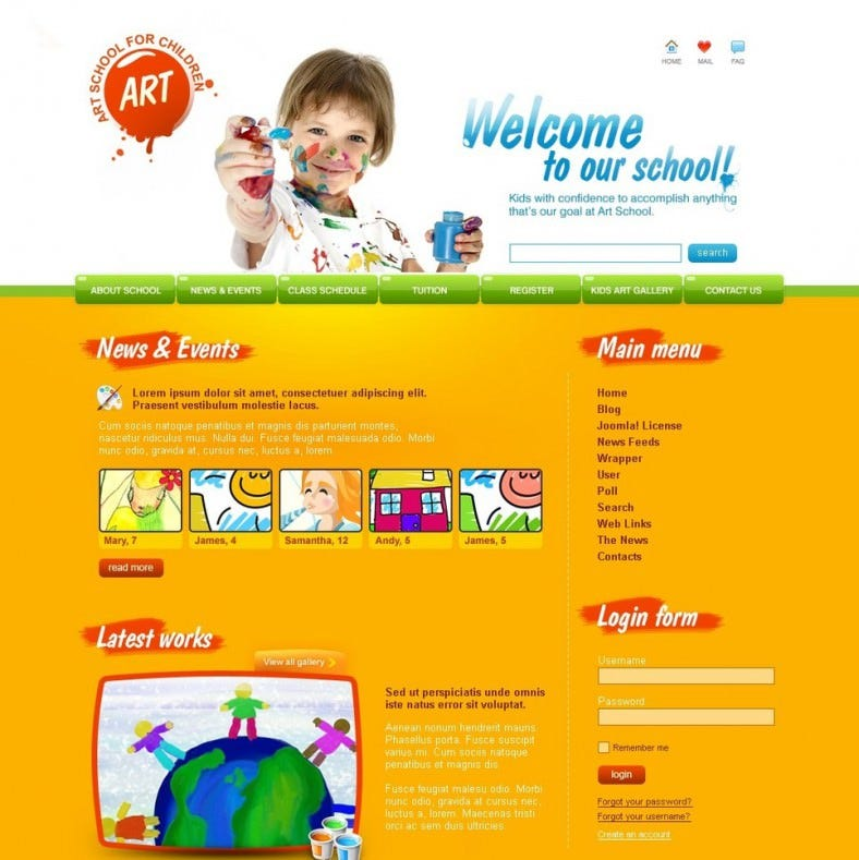 art school joomla template 55 788x789