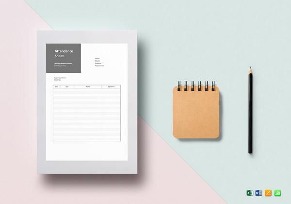 14 attendance sheet templates pdf doc excel free premium