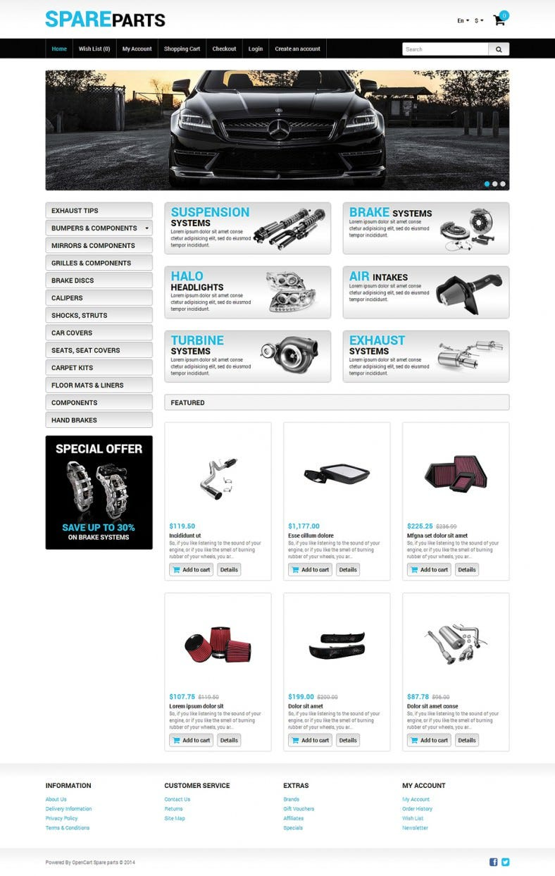 Auto Store OpenCart Template