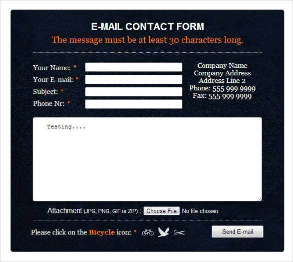 awesome-php-email-contact-form-with-css