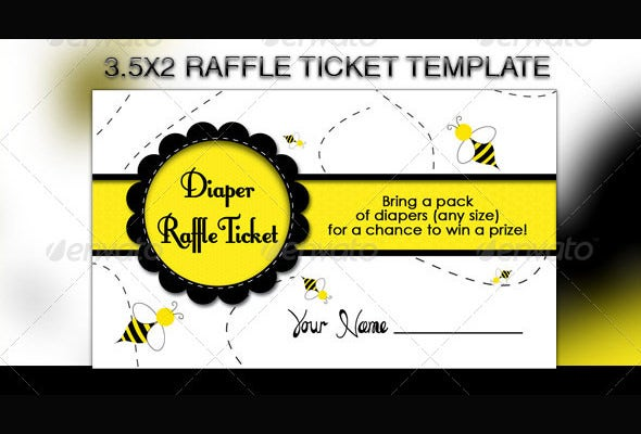 awsome bumble baby raffle flyer tempalte