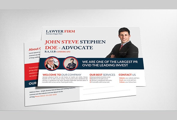 awsome business postcard flyer template