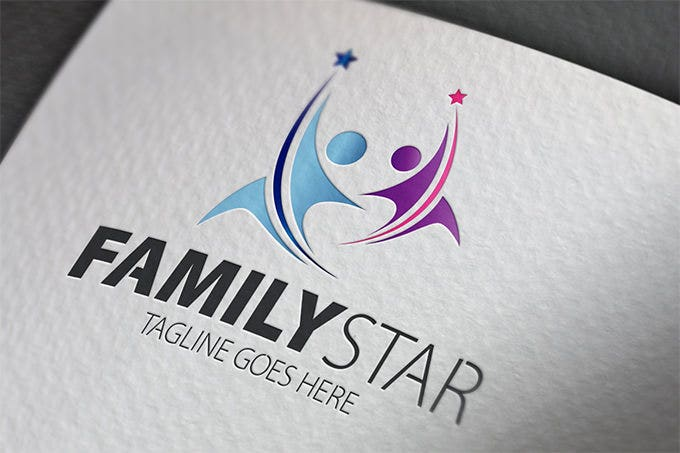 awsome family star logo