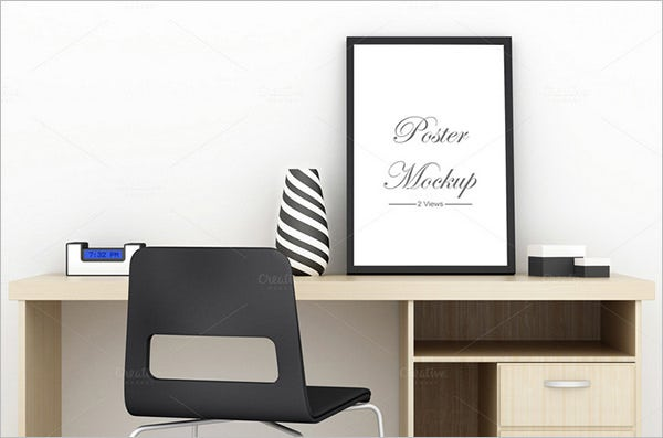 awsome furniture psd poster mockup