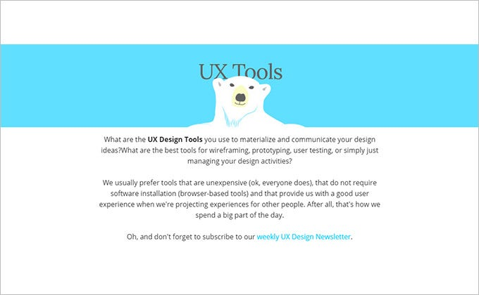 awsome lazy bear cloud based ux design tool