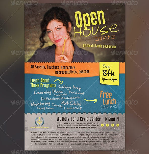 awsome open house flyer template