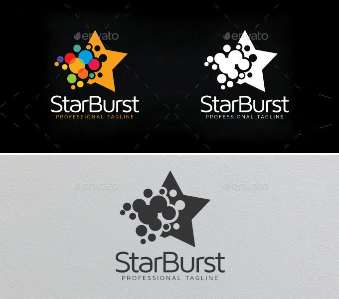 awsome star burst star logo