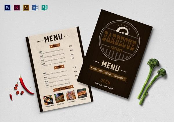 bbq menu template