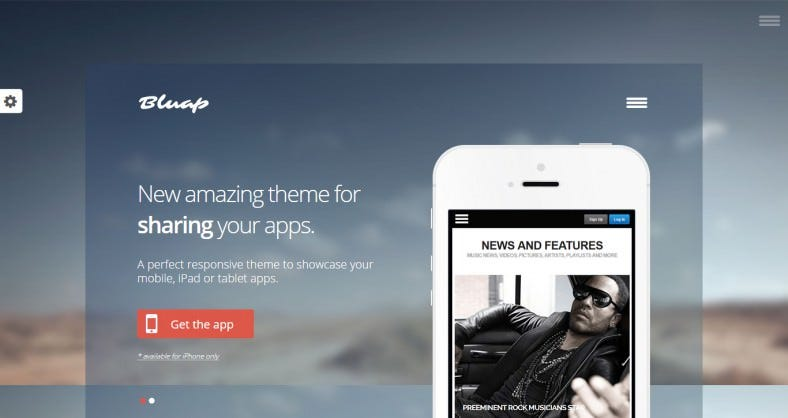 App Promoting WordPress Template