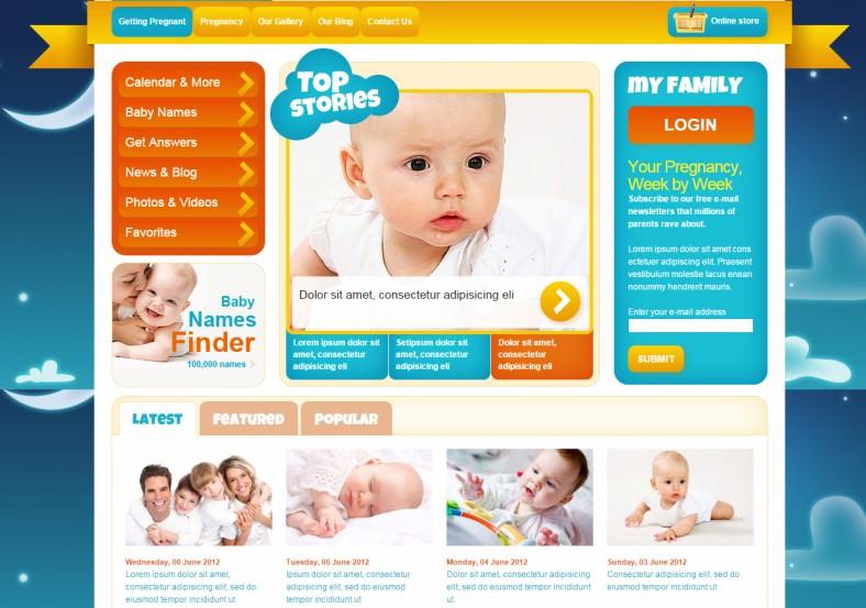 baby kindergarten joomla template 68 788x553
