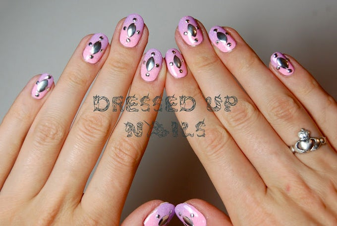 baby pink nail design