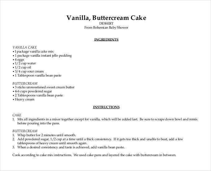 43 amazing blank recipe templates for enterprising chefs pdf doc free premium templates. Black Bedroom Furniture Sets. Home Design Ideas