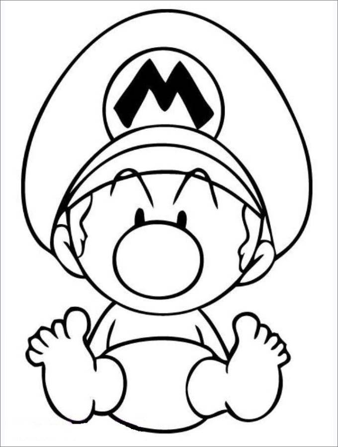 Mario Coloring Pages - Free Coloring Pages | Free & Premium Templates