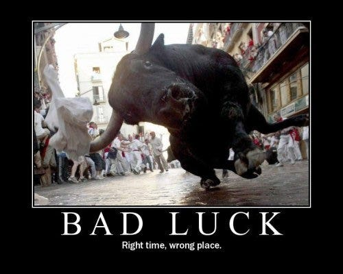 badluck demotivational posters