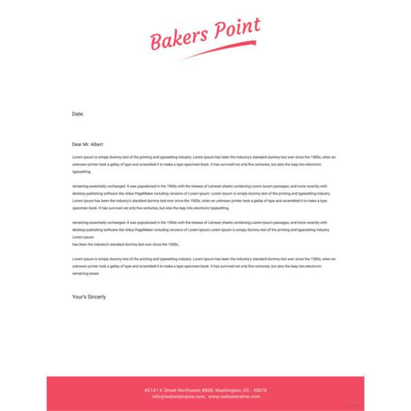 Bakery Letterhead Templatec