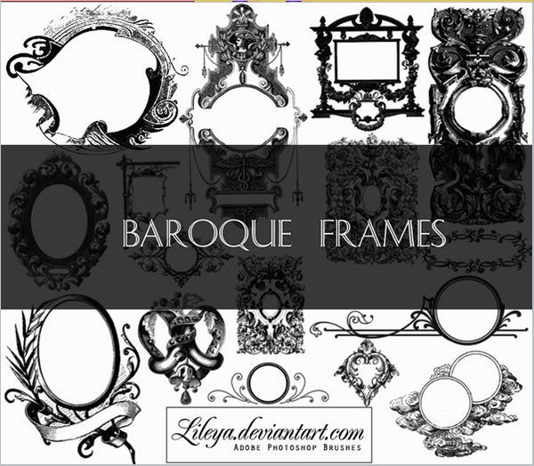 baroque brush frames