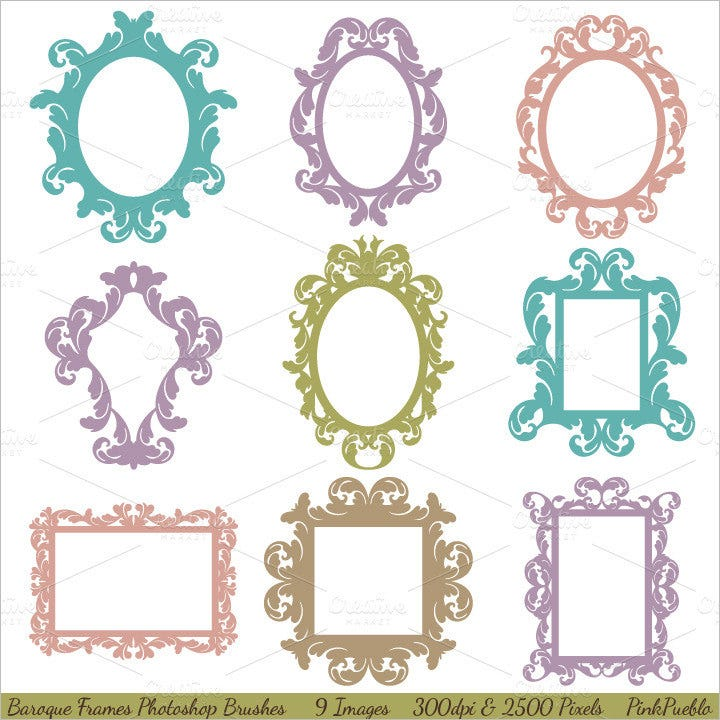 35 photoshop frame brushes free brushes download free for Picture frame templates for photoshop