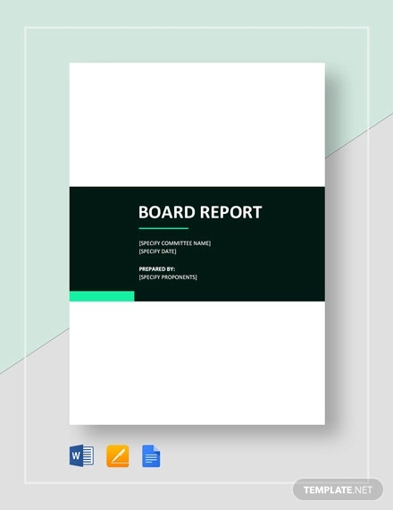 basic board report template