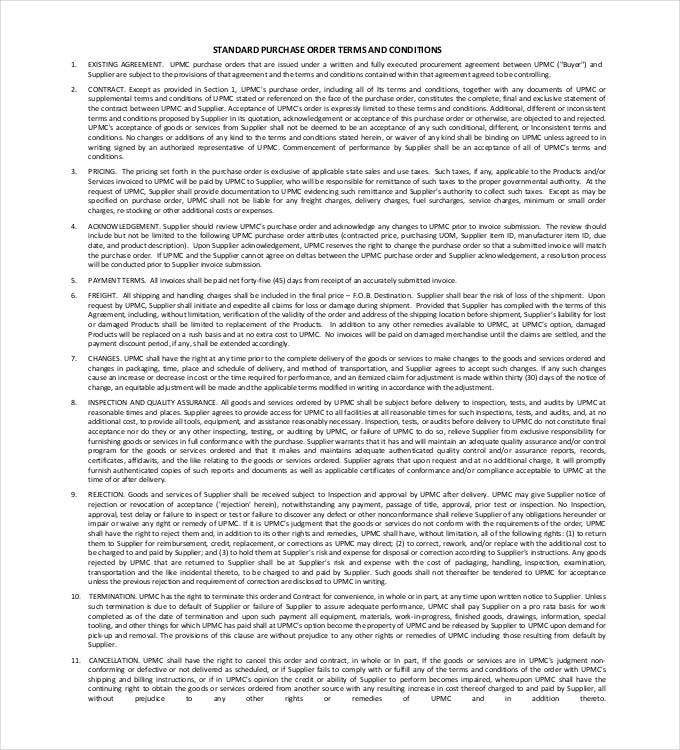 Delivery terms and conditions template for Standard terms and conditions for services template