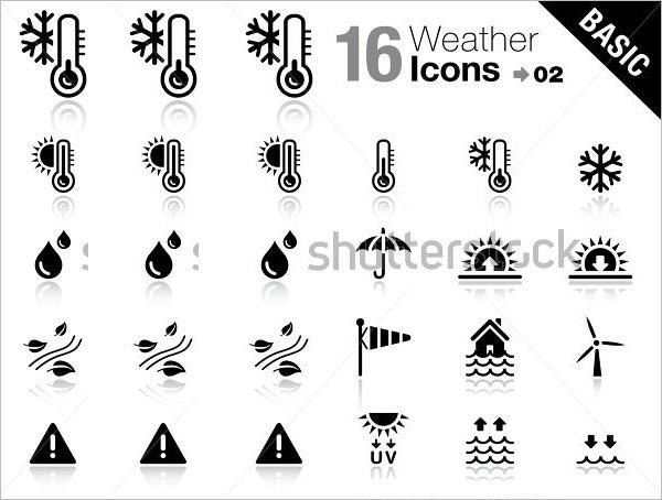 basic weather icons set 1