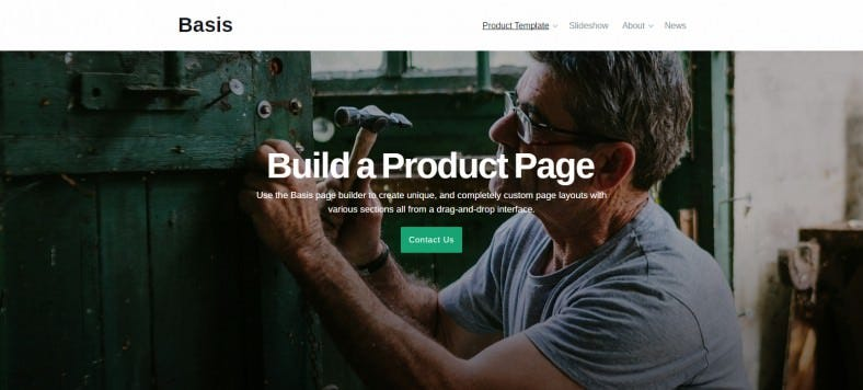 Basis WordPress Drag & Drop Theme