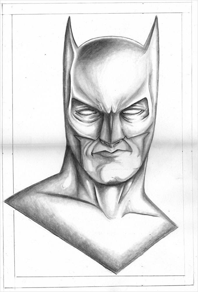 Download this wonderful batman pencil drawing and get printed to let your kids color it or replicate the same drawing themselves
