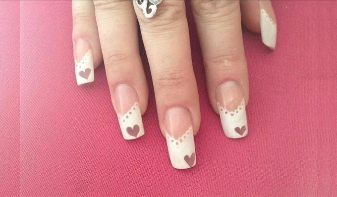 beautifu wedding nail art
