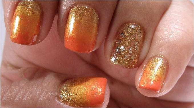 beautiful fall nail art design