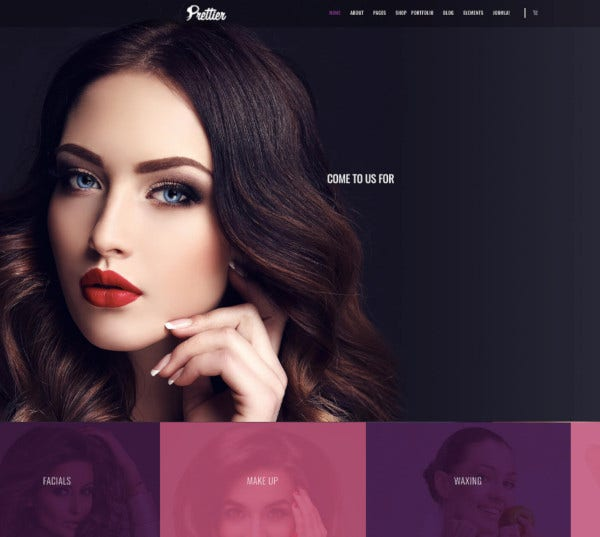 beauty salon spa joomla template1
