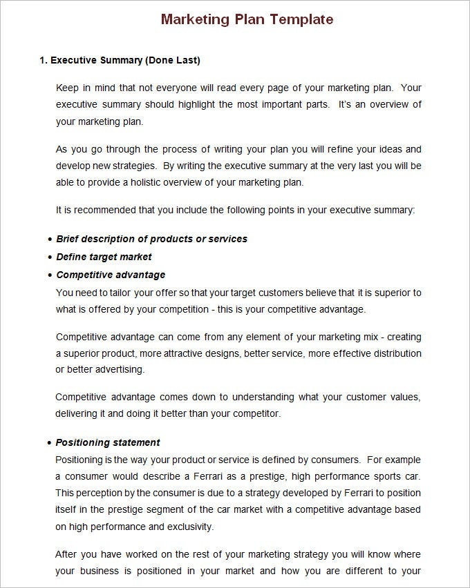Annual marketing plan template free word pdf documents download small business marketing template accmission Image collections