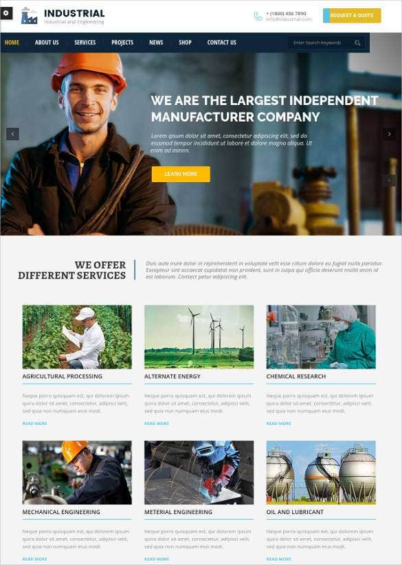 best engineering website wordpress theme1