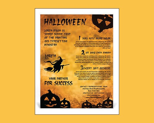 best halloween word flyer template