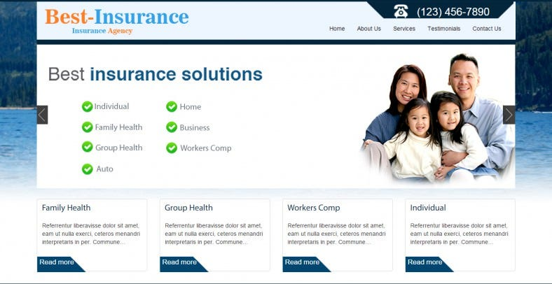 Best Insurance Responsive WordPress Theme