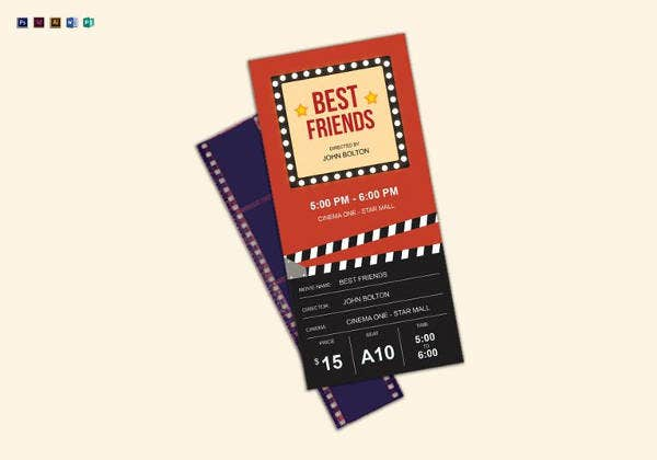 best movie ticket template