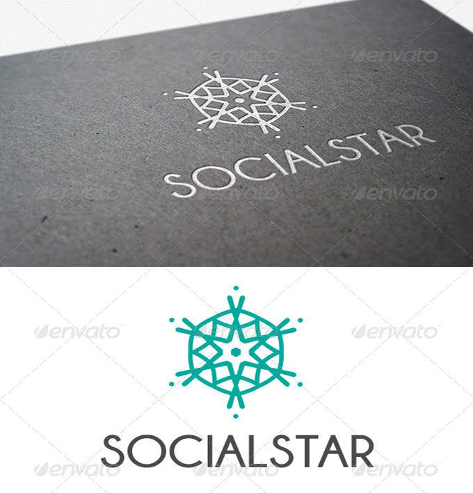 best social star logo