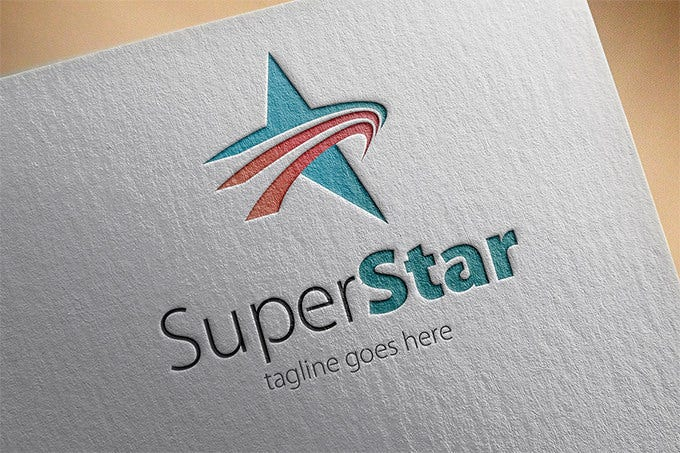 best star logo for super star