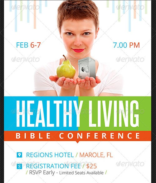 bible conference poster template