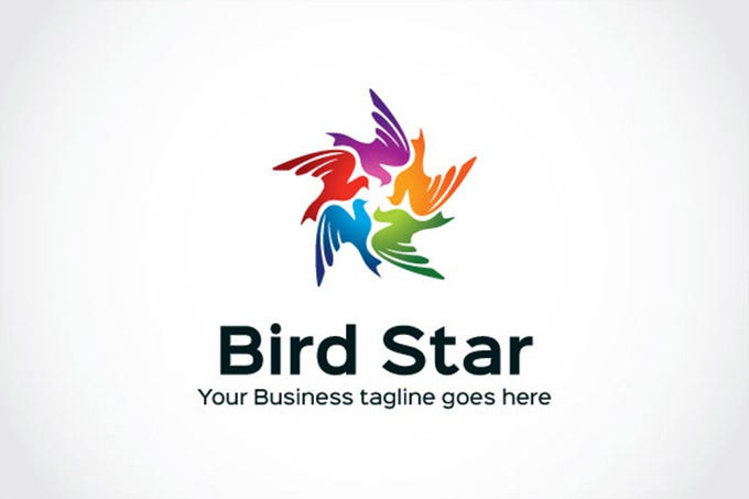 birds collection star logo
