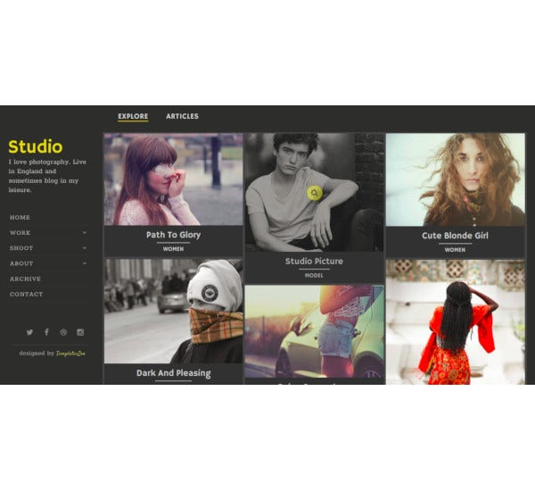 black blogger gallery template