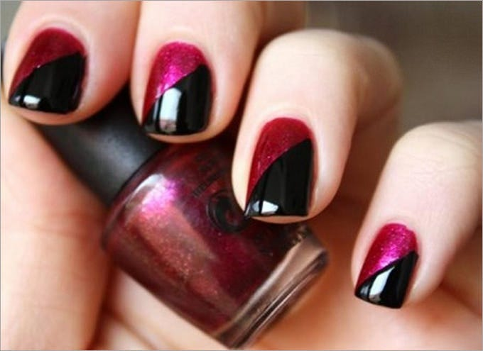 Nail polish colour and design