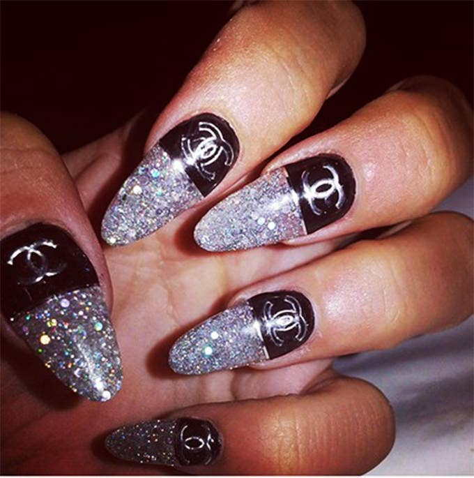 black new glitter design