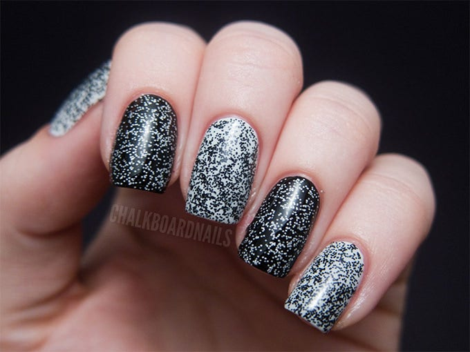black and white nail design picture