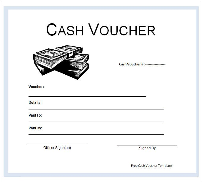 Good Blank Cash Voucher Template. Free Download  Free Voucher Templates