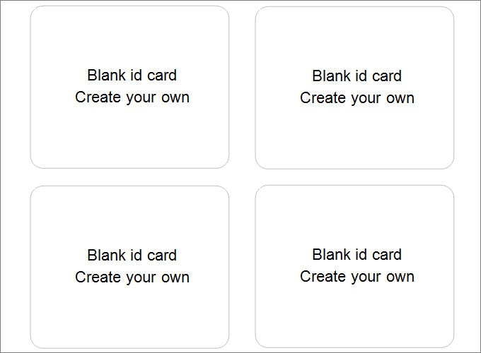 16+ Blank ID Card Templates - Free Word, PSD, EPS Formats Download ...