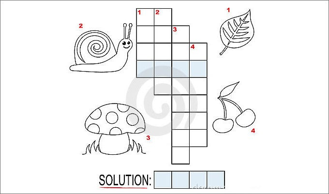 Blank Crossword Kids Template