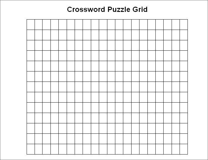 Blank Crossword Puzzle Grid