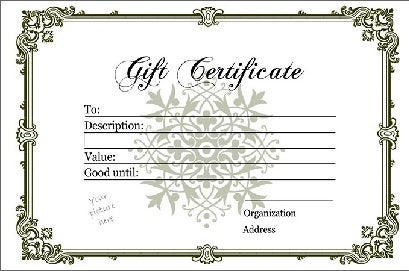 Blank gift certificate template yadclub Gallery