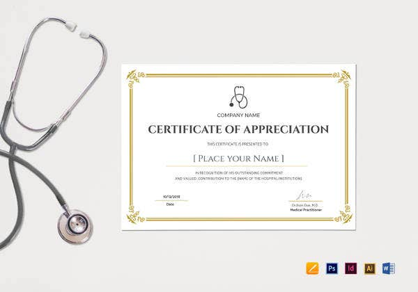 blank-medical-appreciation-certificate-template