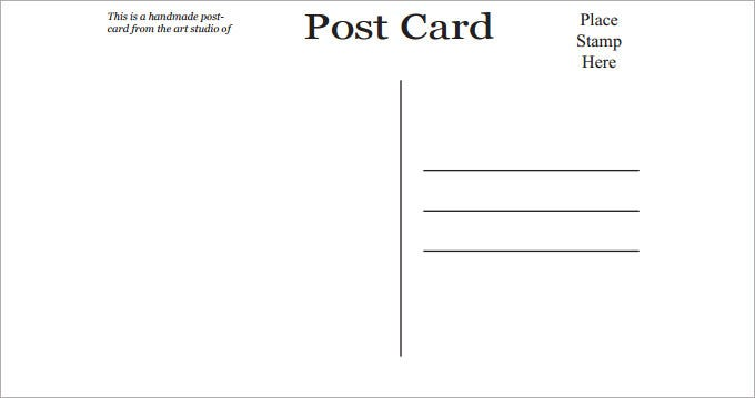 Comprehensive image intended for printable postcards template